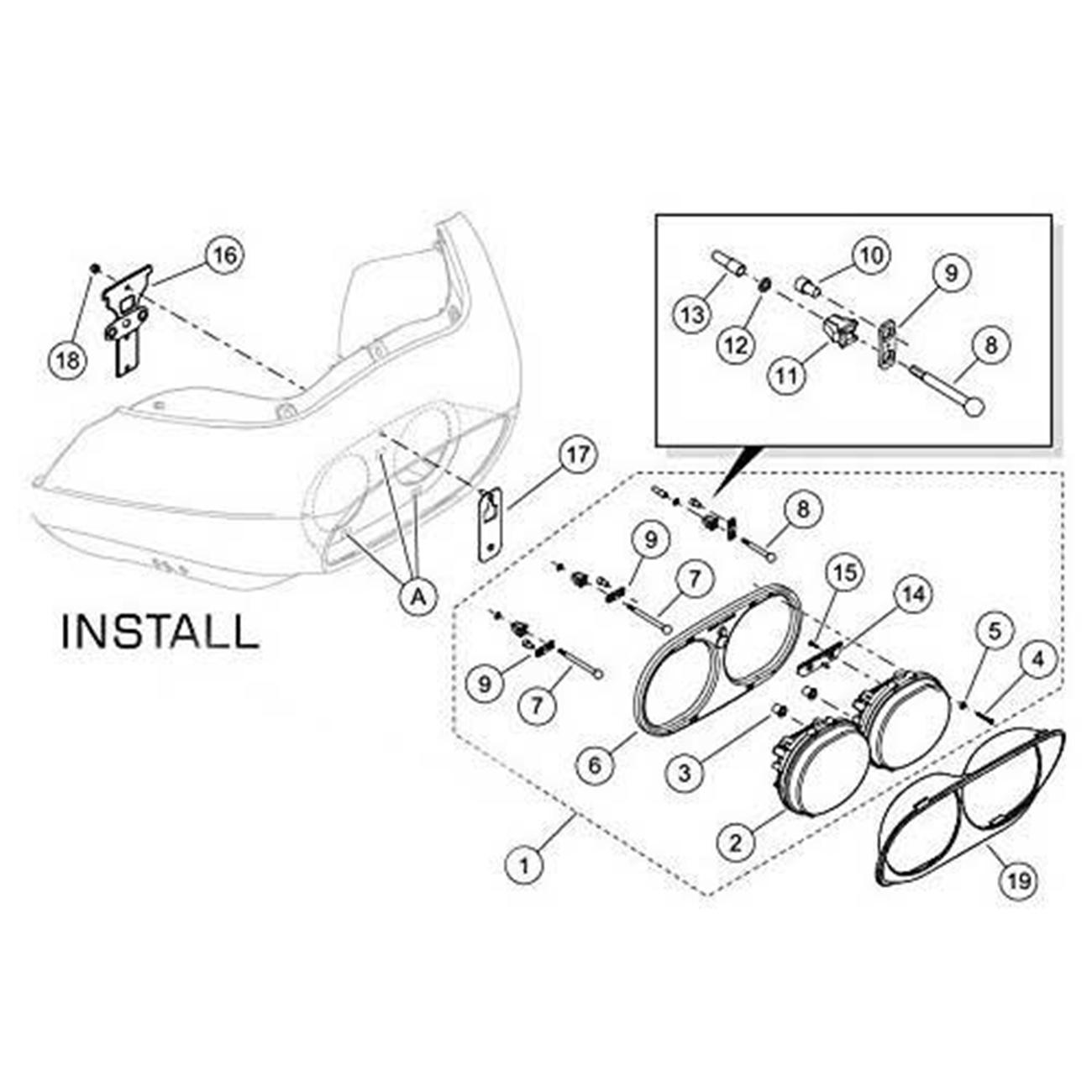 Daymaker Projector Dual Led Headlight For Harley Davidson Road Glide Headlamp