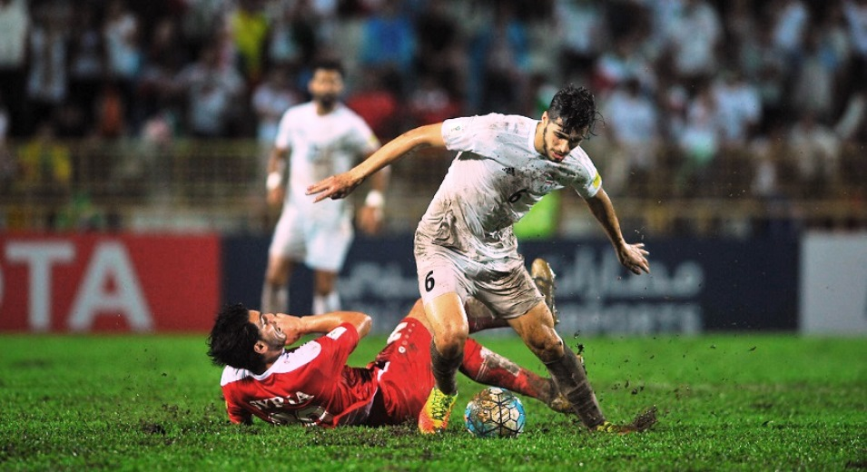 Syria vs Iran during the 2018 FIFA World Cup Russia Asian Qualifiers Final Qualification Round Group A match at Tuanku Abdul Rahman Stadium on 15 November 2016, in Paroi, Malaysia. Photo by Mohd Khairol Buhari / Lagardere Sports