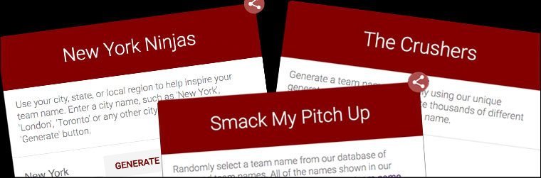Team Names Funny Team Names
