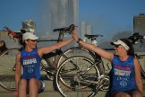 Amanada Budzowski and Monica Reisz at Point State Park in Downtown, Pittsburgh, PA for Team PHenomenal Hope