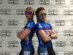 Two Team PH athletes wearing sun glasses and posing like cool kids