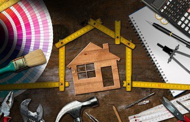 house and measuring tape