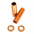 CNC Machined Shock Bodies & Spring Collars (w/o-ring) for Axial Wraith (1 pair) Orange