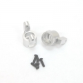 CNC Machined Precision Alum. C-Hubs for Axial Wraith (1 pair) Silver