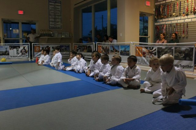 Tiny Ninjas Listening and Learning BJJ in Naples, FL