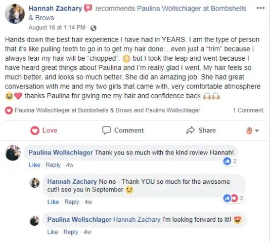 Hannah Facebook Review