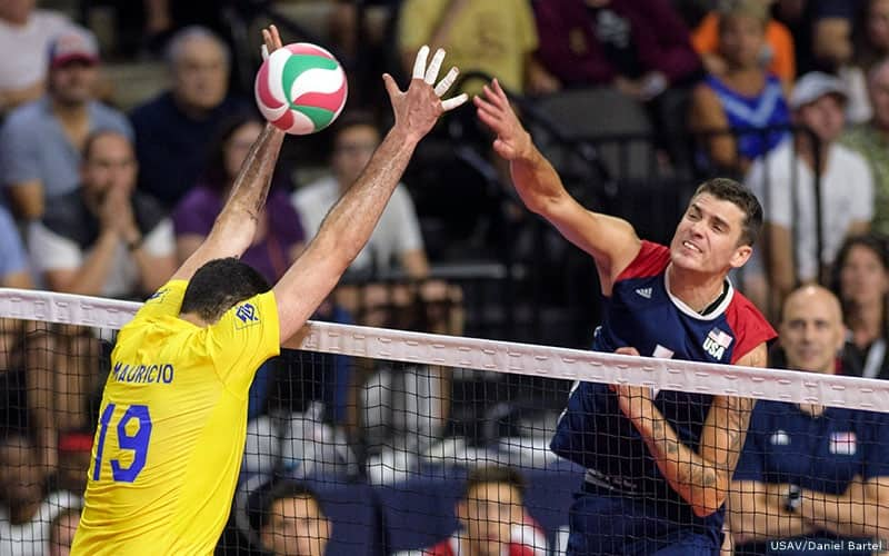US Men Fall to Brazil in USAV Cup Match