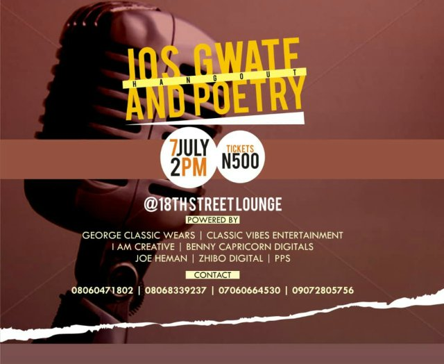 EVENT: JOS GWATE AND POETRY HANGOUT   TEAM WAKA