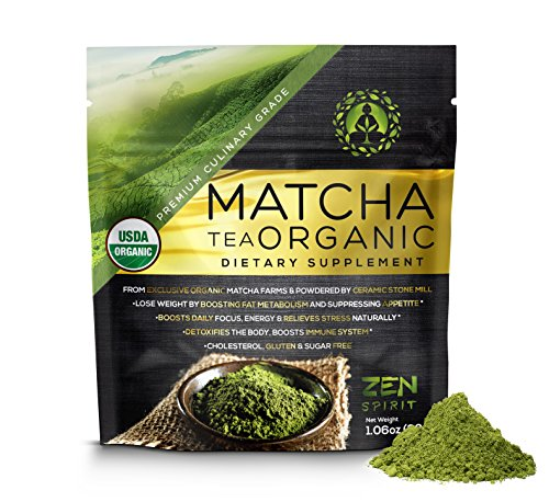 ZEN SPIRIT JAPANESE PREMIUM CULINARY GRADE ORGANIC MATCHA GREEN TEA POWDER