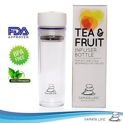 SAMATA LIFE ECO-FRIENDLY DOUBLE-WALLED TEA AND FRUIT INFUSER WATER BOTTLE