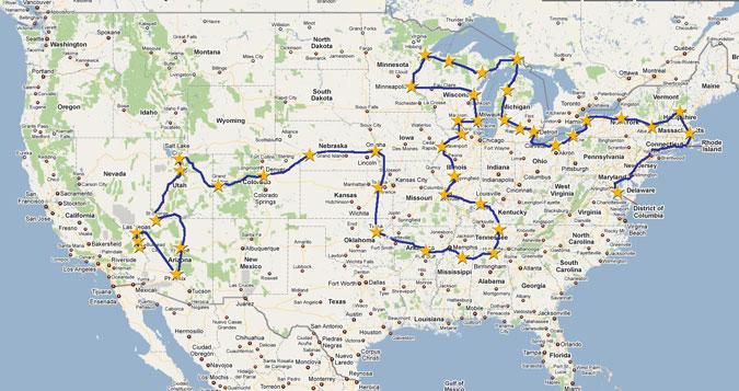 TPX3 Tour Map