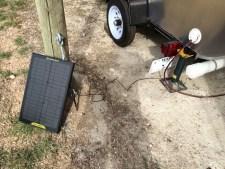 Solar panel for teardrop trailer