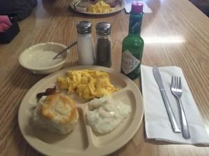 Photo of biscuit and gravy breakfast