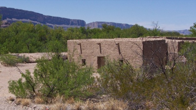 Photo of Santa Elena Canyon visible in the distance