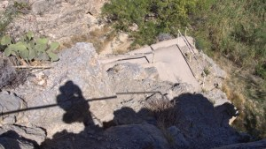 Photo of switchbacks on the trail