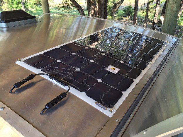 photo of mounted solar panel