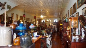 photo of the interior of One of many antique stores
