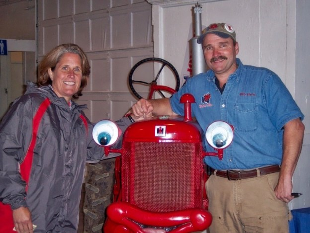 photo of Julie and Billy Steers and Tractor Mac