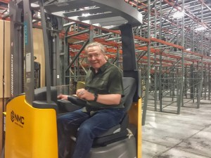 photo of Riding the new forklift