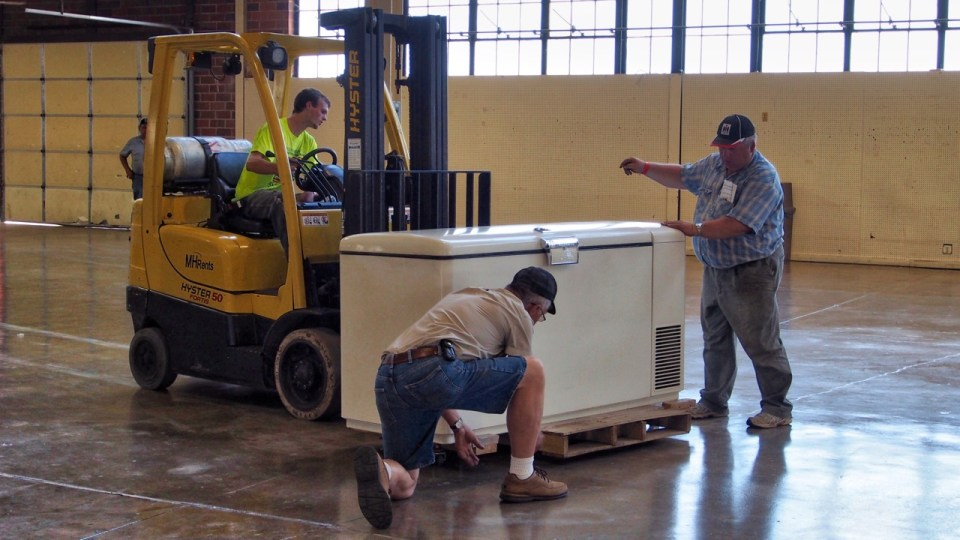 photo of loading in a freezer