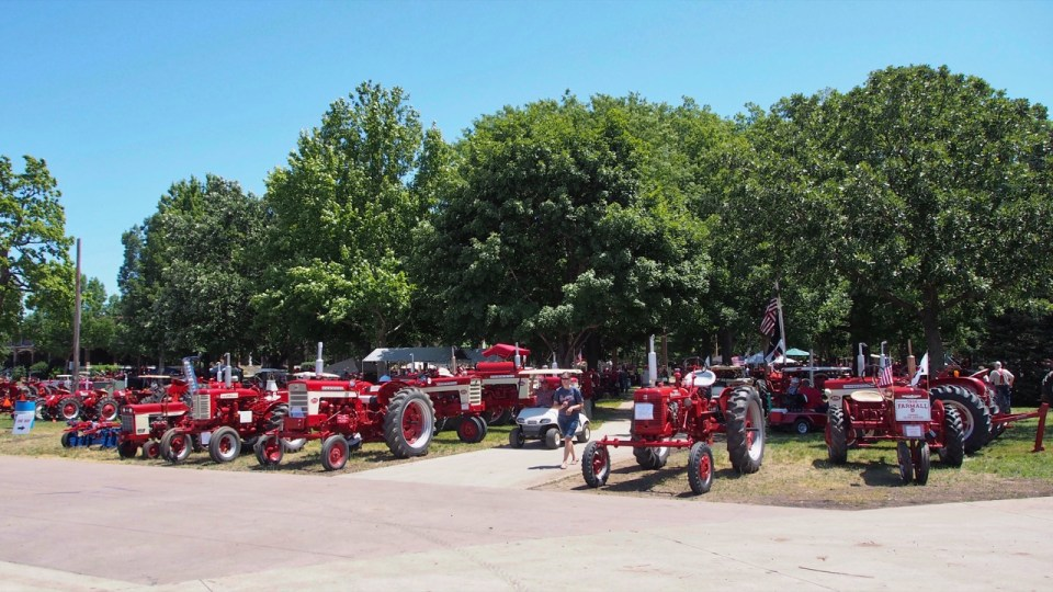 photo of Machinery Grounds at Red Power Roundup
