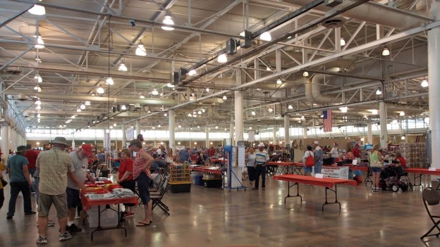 Photo of the Iowa State Fair Varied Industries Building interior
