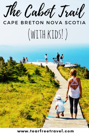 Planning a trip to Cape Breton with kids? Check out my ultimate guide of where to stay, where to eat and what to do with kids. These family-friendly spots will be a hit. Includes my review of the iconic skyline trail! Click through to learn more. #cabottrail #skylinetrail #cabottrailwithkids #novascotiawithkids #skylinetrailcapebreton #thingstodoincapebreton