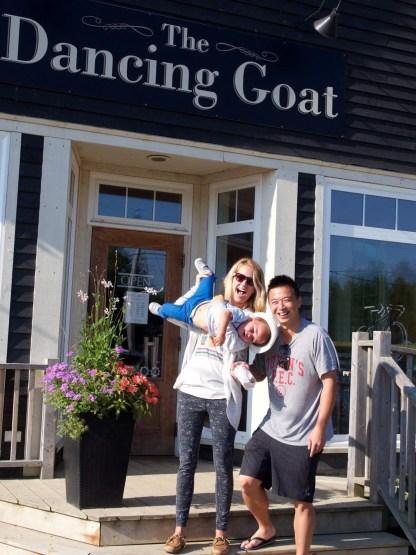 The Dancing Goat. Cape Breton Nova Scotia with Kids.