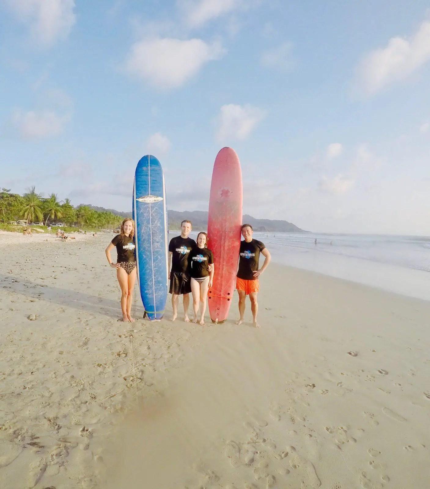 Surfing Santa Teresa Costa Rica Ollies Adventures