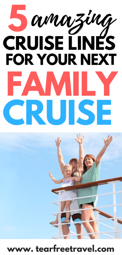 Thinking of a family cruise vacation? Here are our favorite 5 cruises for kids. These kid-friendly cruise options have the most amazing amenities for kids! Ice skating, surfing, mini putt, it's amazing what they can pack onto a a ship! Learn all about the benefits of cruising with the family and why you should consider a cruise for your next trip! #cruise #cruisetips #cruisevacation #familycruise #familytravel #familyvacation
