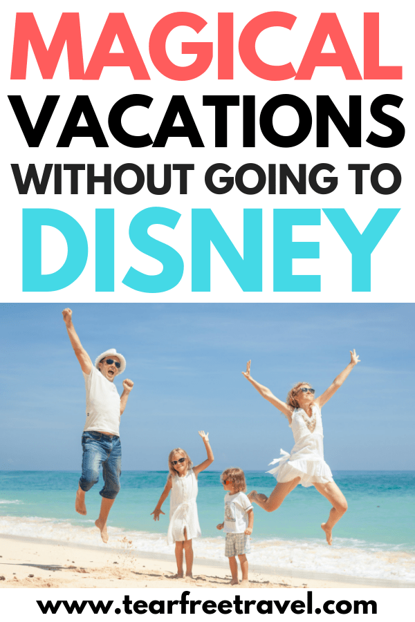 Are you looking for a magical family vacation? You don't have to do Disney to have some magic on your family vacation! Check out our ideas for the best family vacation spots that will wow your kids without the huge price tag of Disney. Have a blast on your next family trip with these awesome family vacation destinations. #travel #familytravel #familyvacationdestinations