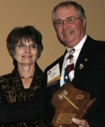 Photo of Larry Teasdale induction into the WAA Hall of Fame in 2007