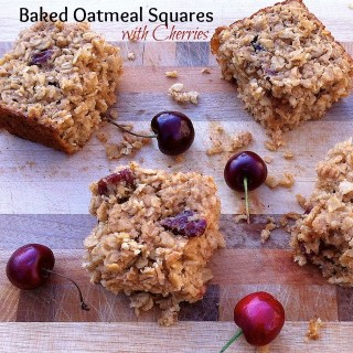 Baked Oatmeal Squares with Cherries | The Recipe ReDux