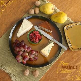 Pear Walnut Chutney