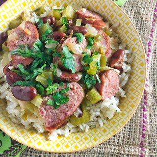 Easy Louisiana Red Beans and Brown Rice
