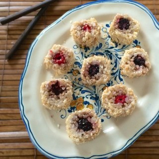 Fruit and Coconut Sushi Rolls for April Fool's Day