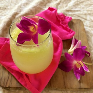 Sparkling Orchid Cucumber Limeade | The Recipe ReDux