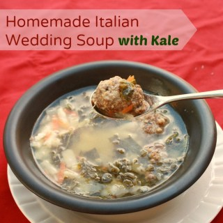 Homemade Italian Wedding Soup with Kale
