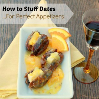 How to Stuff Dates: Cheddar Stuffed Dates with Orange Fennel Sauce