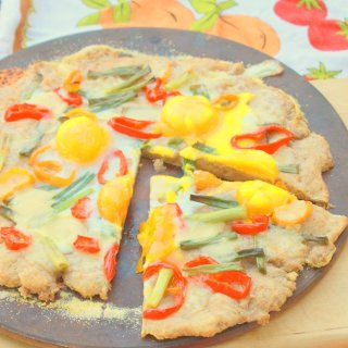 Sweet Pepper, Cheddar and Egg Pizza | The Recipe ReDux