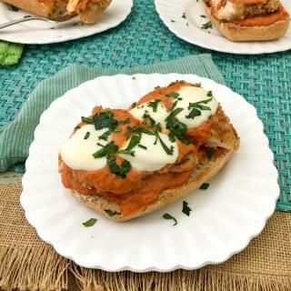 Open Faced Chicken Parmesan Sandwiches | The Recipe ReDux