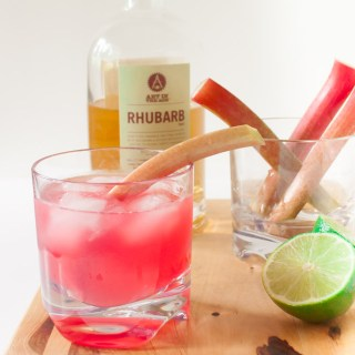 Ruby Rhubarb Ginger Cocktail