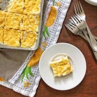 Mango No-Bake Cheesecake Squares