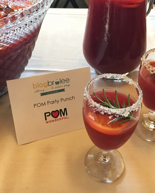 POM Party Punch at Blog Brulee