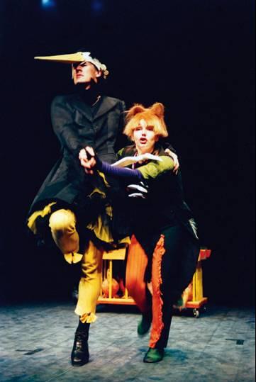 S Draženom Čučekom u jednom od najvećih hitova Male sceni, predstavi 'Roda i lisac' 1999.