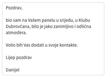 LinkedIn poruka