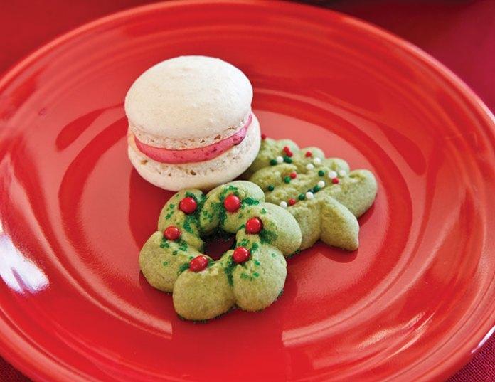 Matcha Christmas Cookies