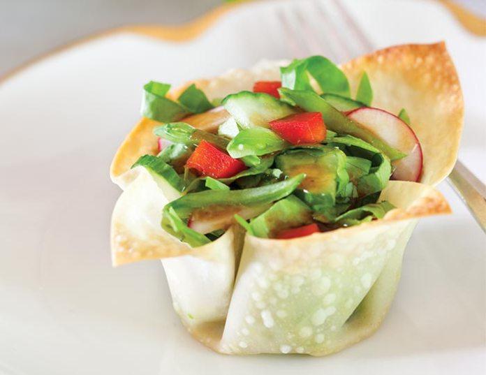 Chinese Green Salad Baskets