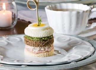 Ham Salad Tea Sandwich Stackers