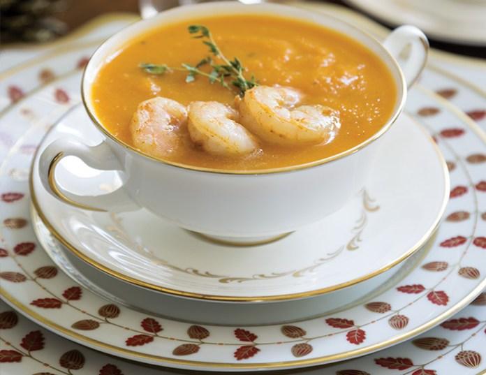 Butternut Squash & Shrimp Soup